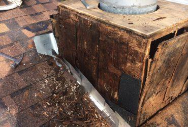 old chimney cap repair